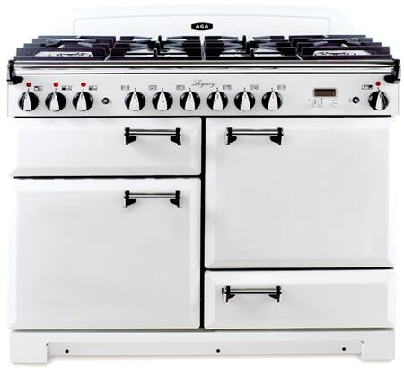AGA ALEG44EVWH Legacy Series Electric Freestanding Range with Smoothtop Cooktop, 2.2 cu. ft. Primary Oven Capacity, Storage in Vintage White