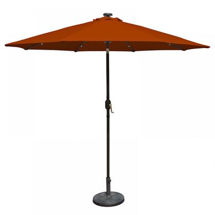 Island Umbrella NU5424 Mirage Fiesta 9-ft Market Umbrella w/ Solar LED in