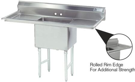1 Compartment Sink   Right and Left Side Drainboard