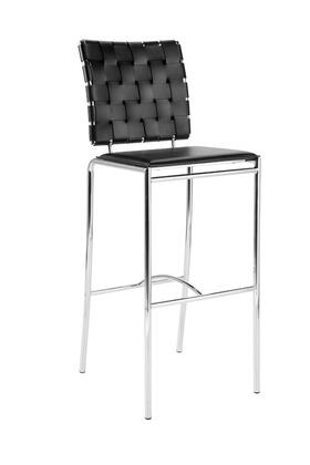 Euro Style 02431 Carina Series Leather Upholstered Bar Stool