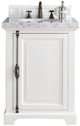 "James Martin Providence Collection 238-105-V26-CWH- 26"" Cottage White Single Vanity with Plantation Style Hardware, One Soft Close Door and"