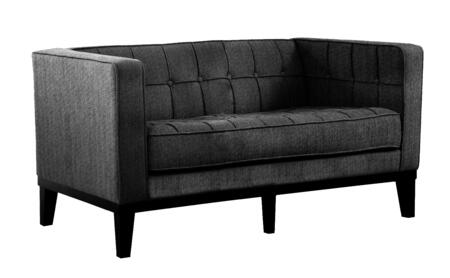 Armen Living LC10102X Roxbury Loveseat with Button-tufted Detail and Satin Fabric in