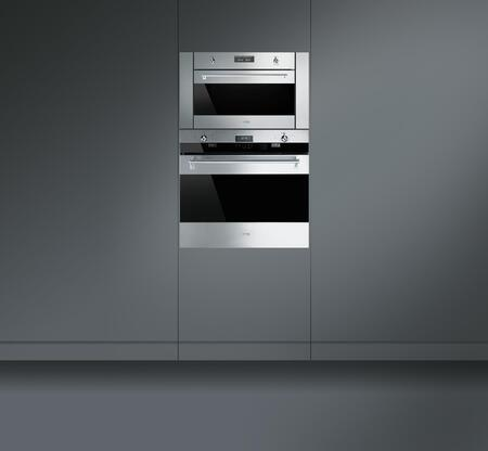 Smeg Su45mcx1 24 Inch Stainless Steel Single Wall Oven Appliances