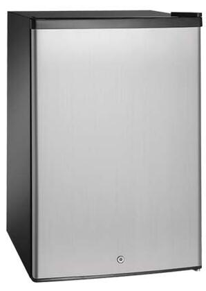 Aficionado A113 Allure Series Compact Refrigerator with 4.5 cu. ft. Capacity in Stainless Steel