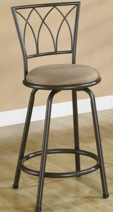 Coaster 122019 Residential Microfiber Upholstered Bar Stool