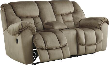 Benchcraft 3660191 Jodoca Series Fabric Reclining with Metal Frame Loveseat