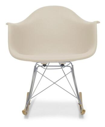 Wholesale Interiors DC-311W- Dario Mid-Century Modern Shell Chair with Chrome-Plated Steel Base, Non-Marking Feet and Polypropylene Plastic Seat