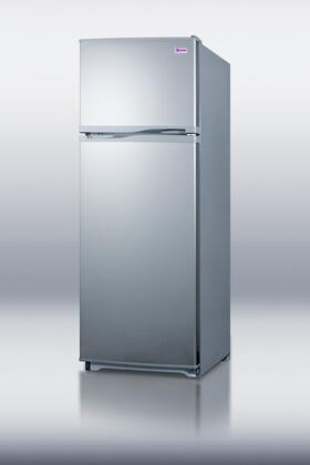 Summit FF1062SLV  Freestanding Top Freezer Refrigerator with 9.41 cu. ft. Total Capacity 3 Glass Shelves