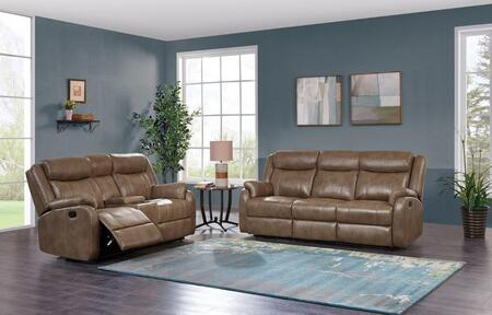 Global Furniture USA U7303CWALNUTRSCRLS U7303 Living Room Se