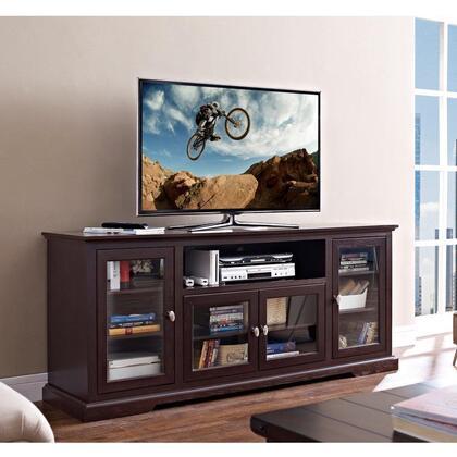 Walker Edison W70C32 70 Highboy Style Wood TV Stand