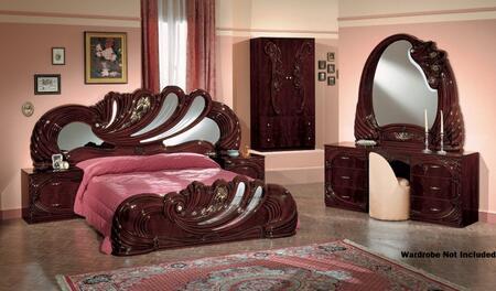 VIG Furniture VGACCVANITYWALQ Modrest Vanity Series 5 Piece Bedroom Set