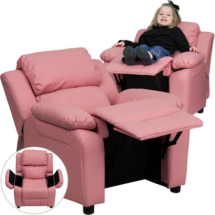 Flash Furniture BT7985KIDPINKGG Childrens Vinyl Wood Frame  Recliners