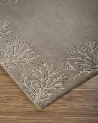 """Signature Design by Ashley Kierin R40032 """" x """" Size Rug with Coral Design, Hand-Tufted, 9-11mm Pile Height and Wool Material Backed with Cotton in Brown Color"""