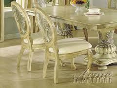 Acme Furniture 08667A Coronado Series Traditional Fabric Wood Frame Dining Room Chair