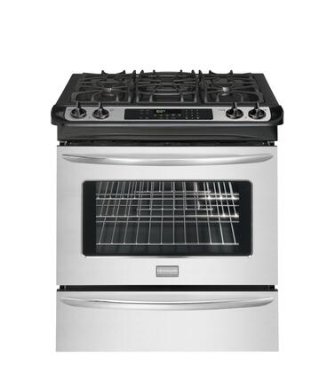 """Frigidaire FGGS3045KF 30"""" Gallery Series Slide-in Gas Range with Sealed Burner Cooktop Storage 4.2 cu. ft. Primary Oven Capacity"""