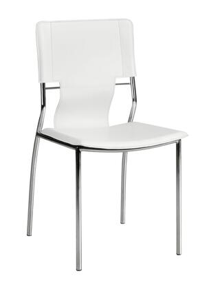 Zuo 404132 Trafico Series Modern Faux Leather Metal Frame Dining Room Chair