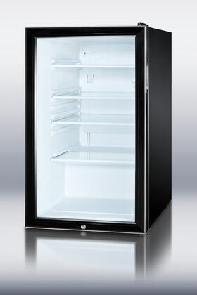 "Summit SCR500BL7ADA 20"" Freestanding Counter Depth Compact Refrigerator with 4.1 cu. ft. Capacity, 3 Glass Shelves"