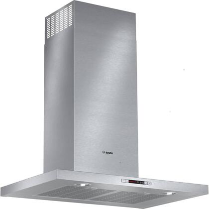 Bosch 500 Series HCB5X651UC X Box Canopy Chimney Hood with 600 CFM Centrifugal Integrated Blower, Four Speed Touch Controls with LCD Display and Dishwasher Safe Filters in Stainless Steel