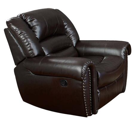 Acme Furniture 50287 Ralph Series Contemporary Bonded Leather Wood Frame  Recliners