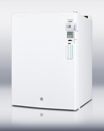 Summit FF28LMEDSC AccuCold Series Compact Refrigerator with 2.4 cu.ft. Capacity in White