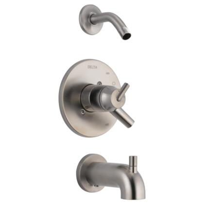 Trinsic T17459-SSLHD Delta Trinsic: Monitor 17 Series Tub and Shower Trim - Less Shower Head in Stainless