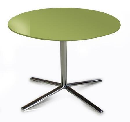 VIG Furniture VGDVT48AGRN Versus Series Modern Metal Round End Table