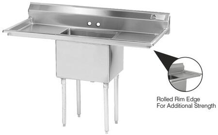 One Compartment Sink with Left and Right Side Drainboard