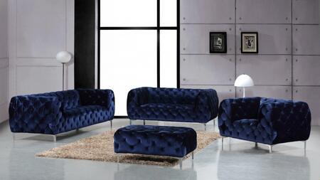 Meridian 646NAVYSLCO Mercer Living Room Sets