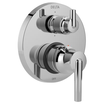 Trinsic T24959 Delta Trinsic: Contemporary Monitor 14 Series Valve Trim with 6-Setting Integrated Diverter in Chrome