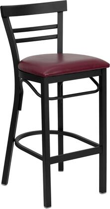 Flash Furniture XUDG6R9BLADBARBURVGG Hercules Series Vinyl Upholstered Bar Stool