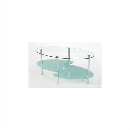 Walker Edison C38B4 Silver Contemporary Table