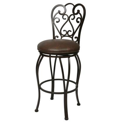 Pastel Furniture QLMA2223 Magnolia 26 in. Counter Height Swivel Barstool