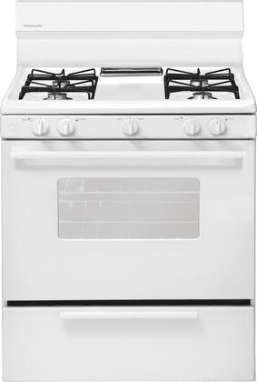 "Frigidaire FFGF3005MW 30""  Gas Freestanding Range with Open Burner Cooktop, 4.2 cu. ft. Primary Oven Capacity, Broiler in White"