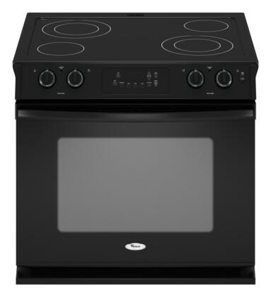 Whirlpool WDE350LVB  Slide-in Electric Range with Smoothtop Cooktop, 4.5 cu. ft. Primary Oven Capacity, in Black
