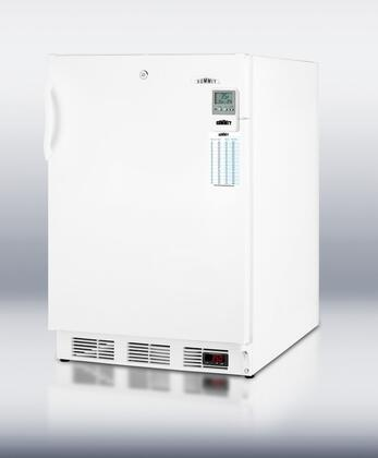 """Summit FF7LBIMEDD 24"""" Medically & Commercially Approved Compact Refrigerator with 5.5 cu. ft. Capacity, Factory Installed Lock, Alarm with Temperature Display and Digital Thermostat in White"""