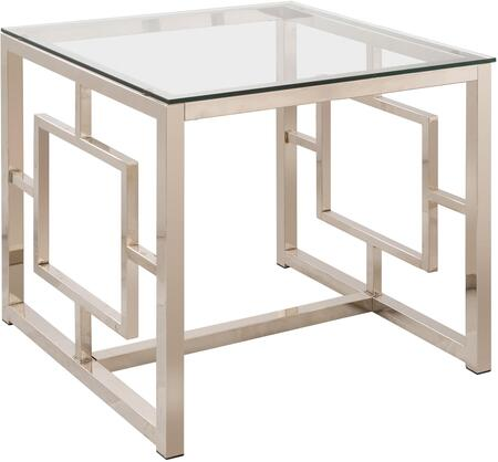 Coaster 703737 Occasional Group Series Contemporary Metal Square None Drawers End Table