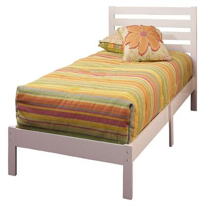 Hillsdale Furniture 330 Aiden Twin Size Platform Bed with Ladder Back Headboard and Solid Wood Construction in