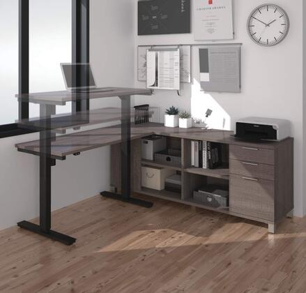 Bestar Furniture 120857 Pro-Linea L-Desk including Electric Height Adjustable Table