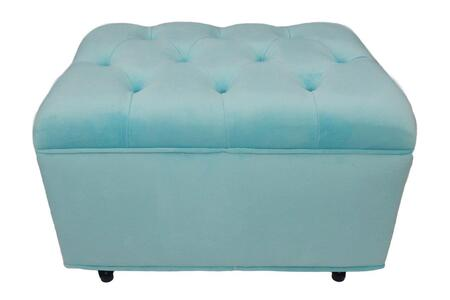 Fun Furnishings 903XX Tres Chic Ottoman Velvet
