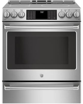 "Cafe CHS95SELSS 30"" Slide In Induction Range with Wi-Fi Connect, Temperature Probe, and Self-Cleaning, in Stainless Steel"