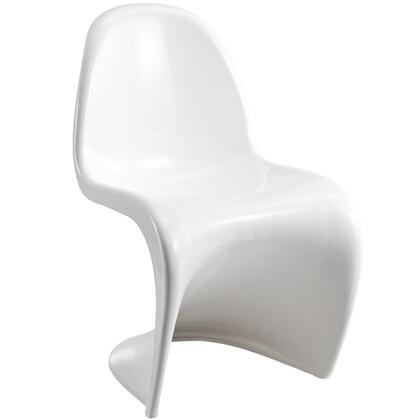 Modway EEI123WHI Slither Series Dining Not Upholstered Plastic Frame Accent Chair