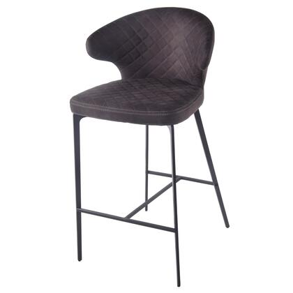 New Pacific Direct Template: Bradley Collection 4400050-221 Fabric Counter Stool in Moonstone Hide Black