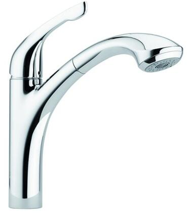Hansgrohe 4076 Alegro E Single Handle Kitchen Faucet with Metal Lever Handle and Pull-out Spray: