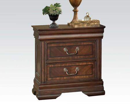 Acme Furniture 19453 Hennessy Series Square Veneers Night Stand