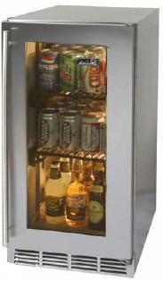 Perlick HP15RS3RDNU  Compact Refrigerator with 3 cu. ft. Capacity in Stainless Steel