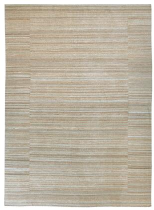 "Signature Design by Ashley Flatweave R40159 "" x "" Size Rug with Stripe Pattern, Hand-Woven, Dry Clean Only, Wool and Cotton Blend Material in Tan Color"