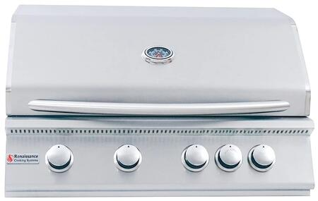 """RCS RJC32 Premier 32"""" with Stainless Steel Gas Burners, Electronic Sure-Strike Ignition, Rear Burner, Up to 60000 BTUs"""