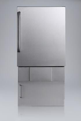 Summit BIM24OSBASE32  Freestanding and Built-In Ice Maker with 10 lbs. Daily Ice Production, 10 lbs. Ice Storage, in Stainless Steel