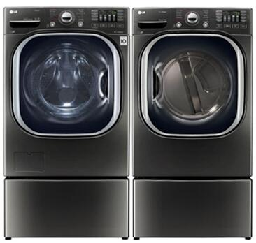 LG 742443 Black Stainless Steel Washer and Dryer Combos