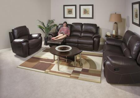 Novo Home 80051RR Berkley Series Leather Reclining with Wood Frame in Dark Chocolate